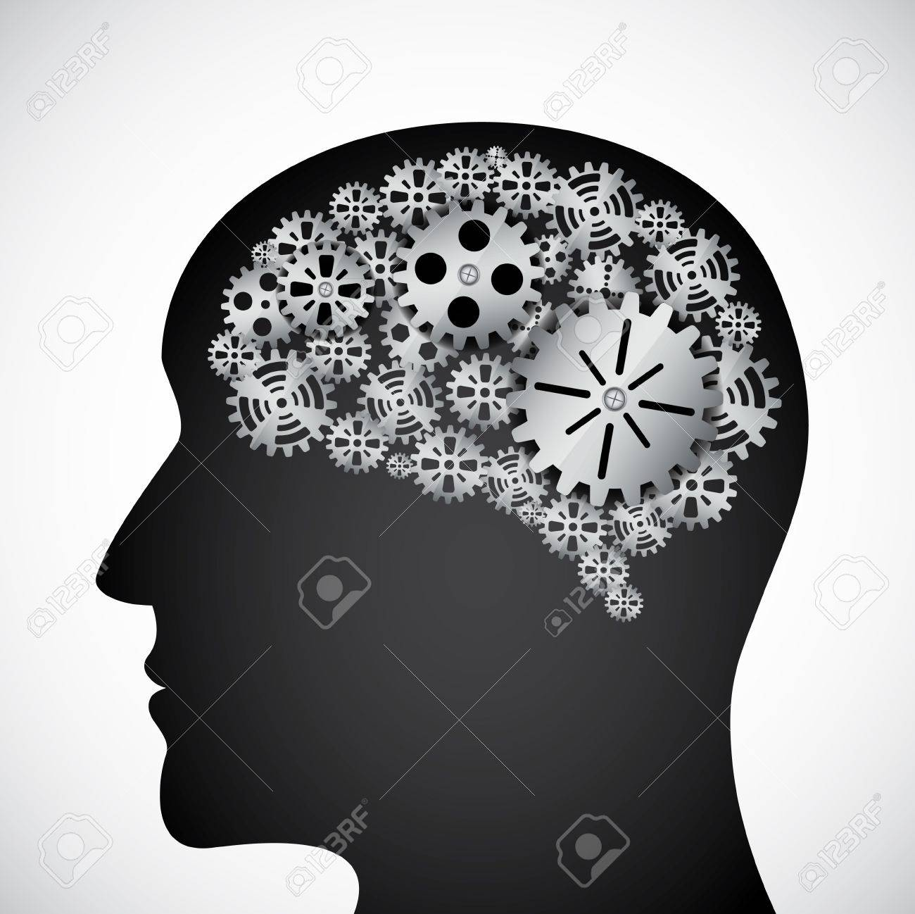 Mind Gear Stock Vector - Image: 39098621