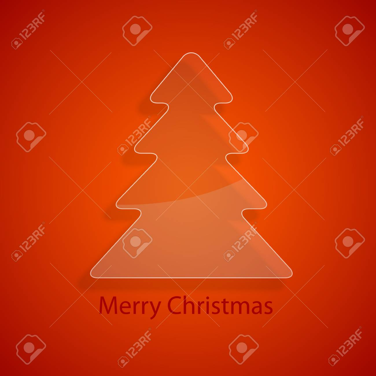 Glass christmas tree Stock Vector - 17019373