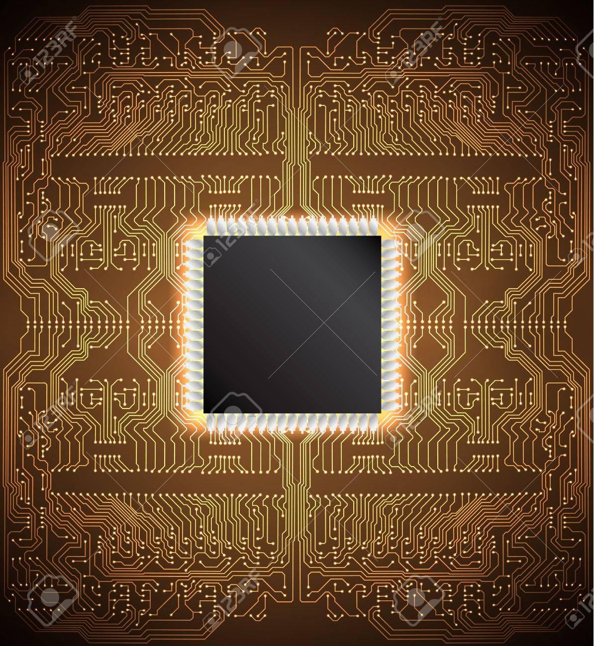 Circuit board background Stock Vector - 19351821