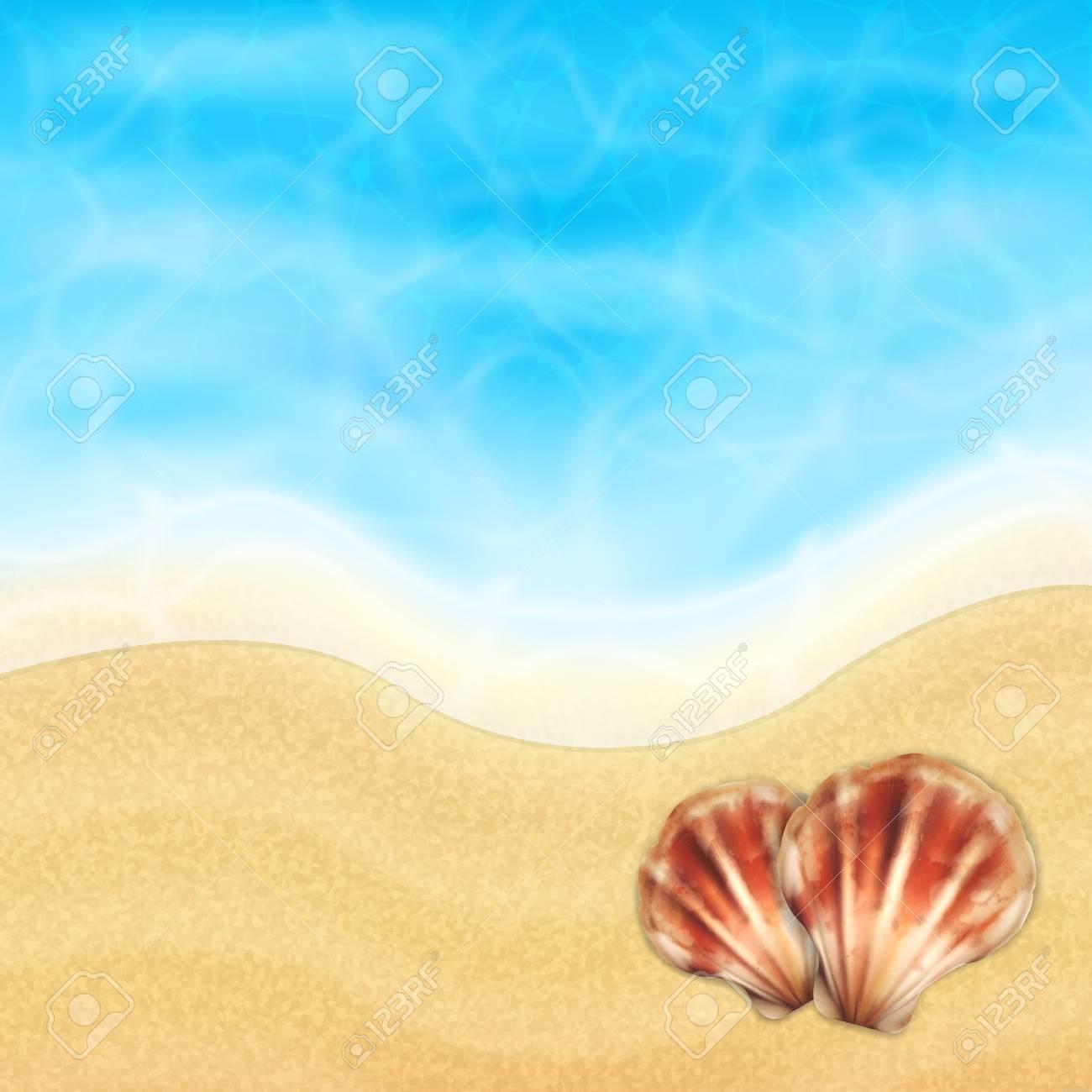 Vettoriale Sfondo Di Vacanza Estiva Mare Dattualità E La
