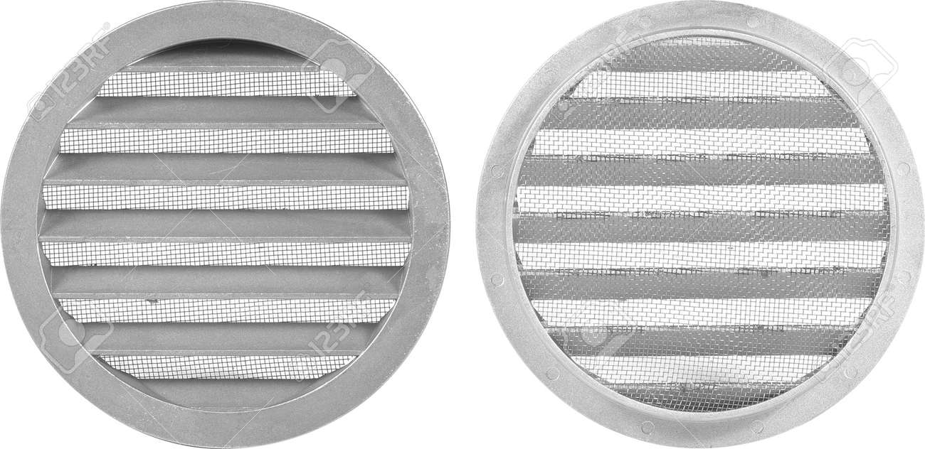 Circle vent window girill on white background. - 172306841