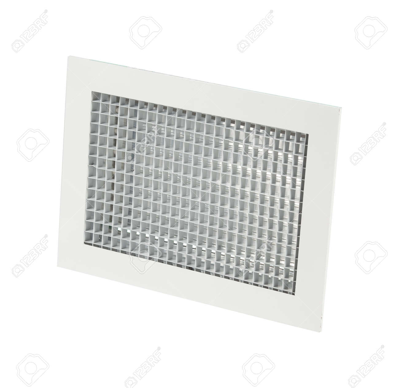 Supply and exhaust ventilation grilles on white background. - 172306854