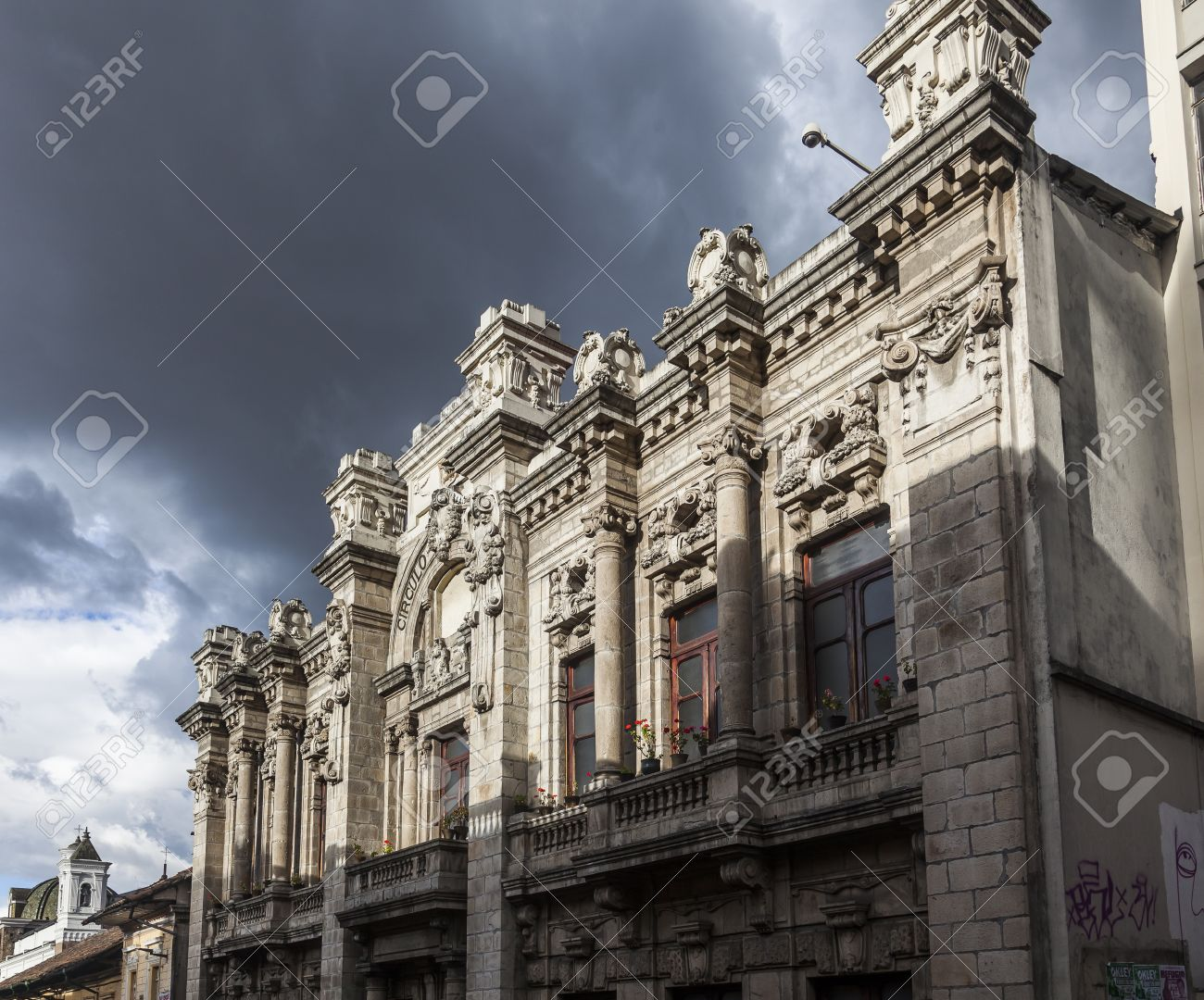 Quito Old Town Colonial Architecture Old Building Military