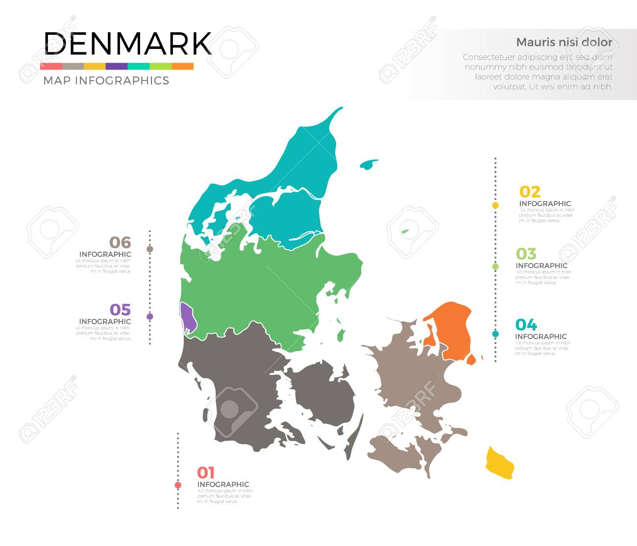 Denmark country map infographic colored vector template with denmark country map infographic colored vector template with regions and pointer marks stock vector 84974277 gumiabroncs Image collections