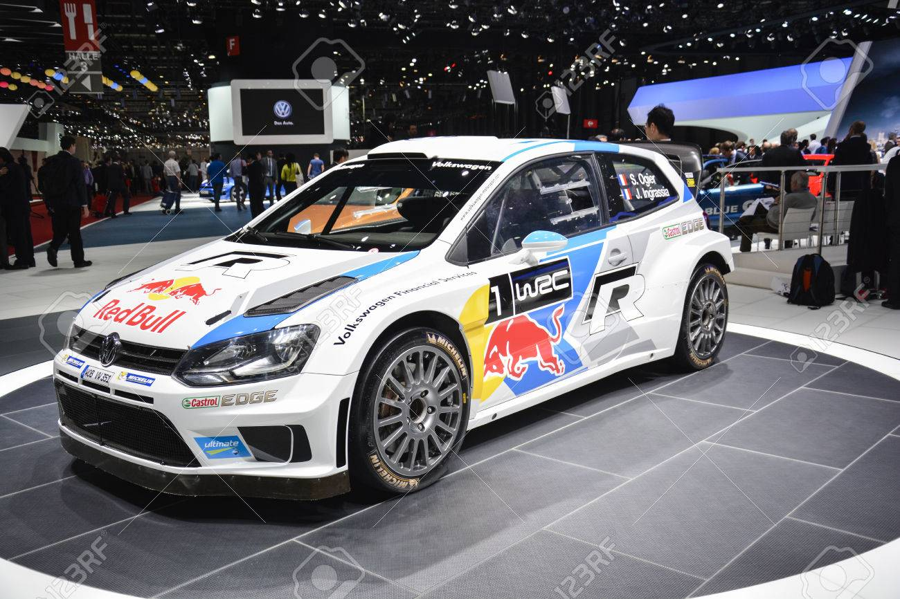 Volkswagen Polo R Wrc World Rally Car On Display During The Geneva Stock Photo Picture And Royalty Free Image Image 26390243