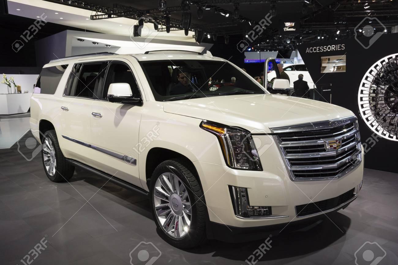 Detroit MI USA January Cadillac Escalade On Display - Car show display accessories