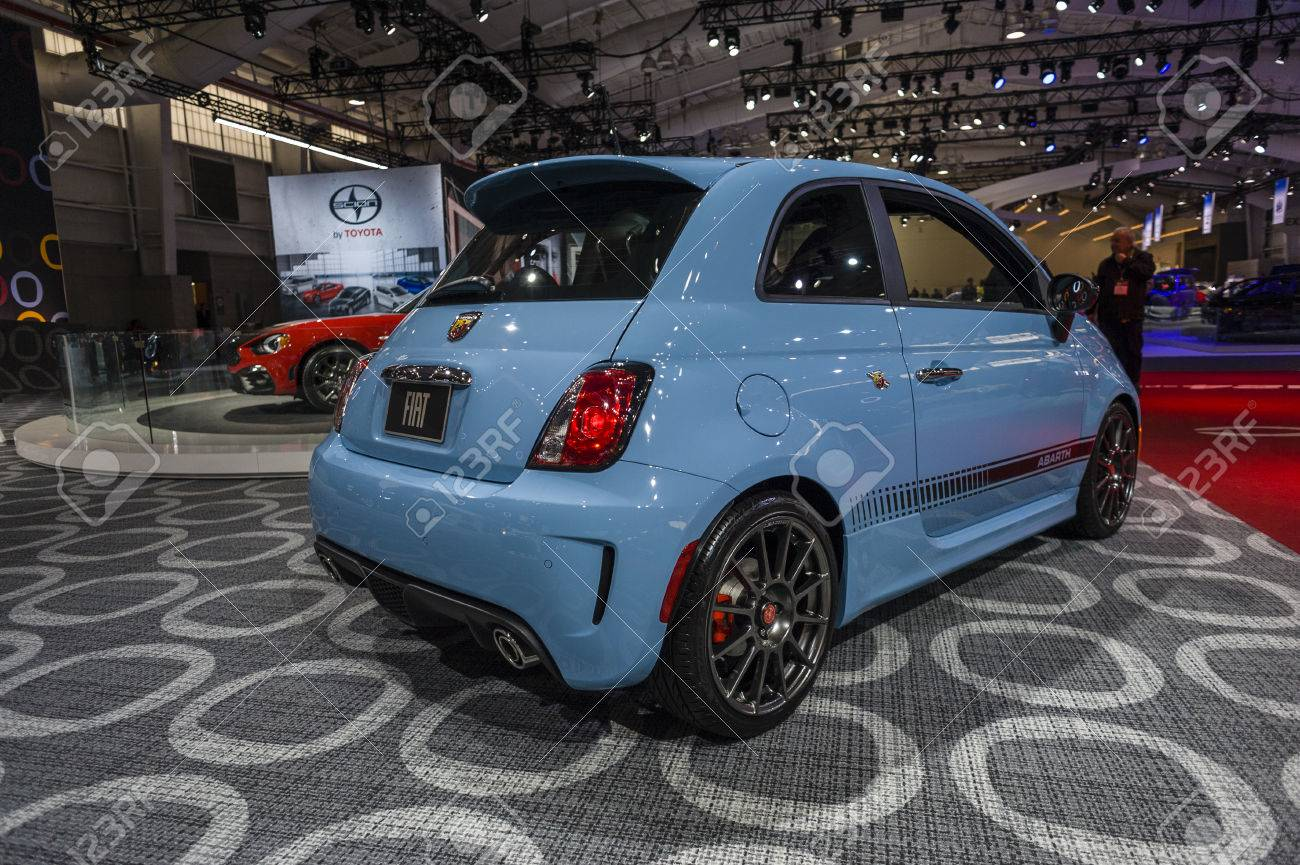 2016 Fiat 500 Abarth >> New York Usa March 24 2016 Fiat 500 Abarth On Display During