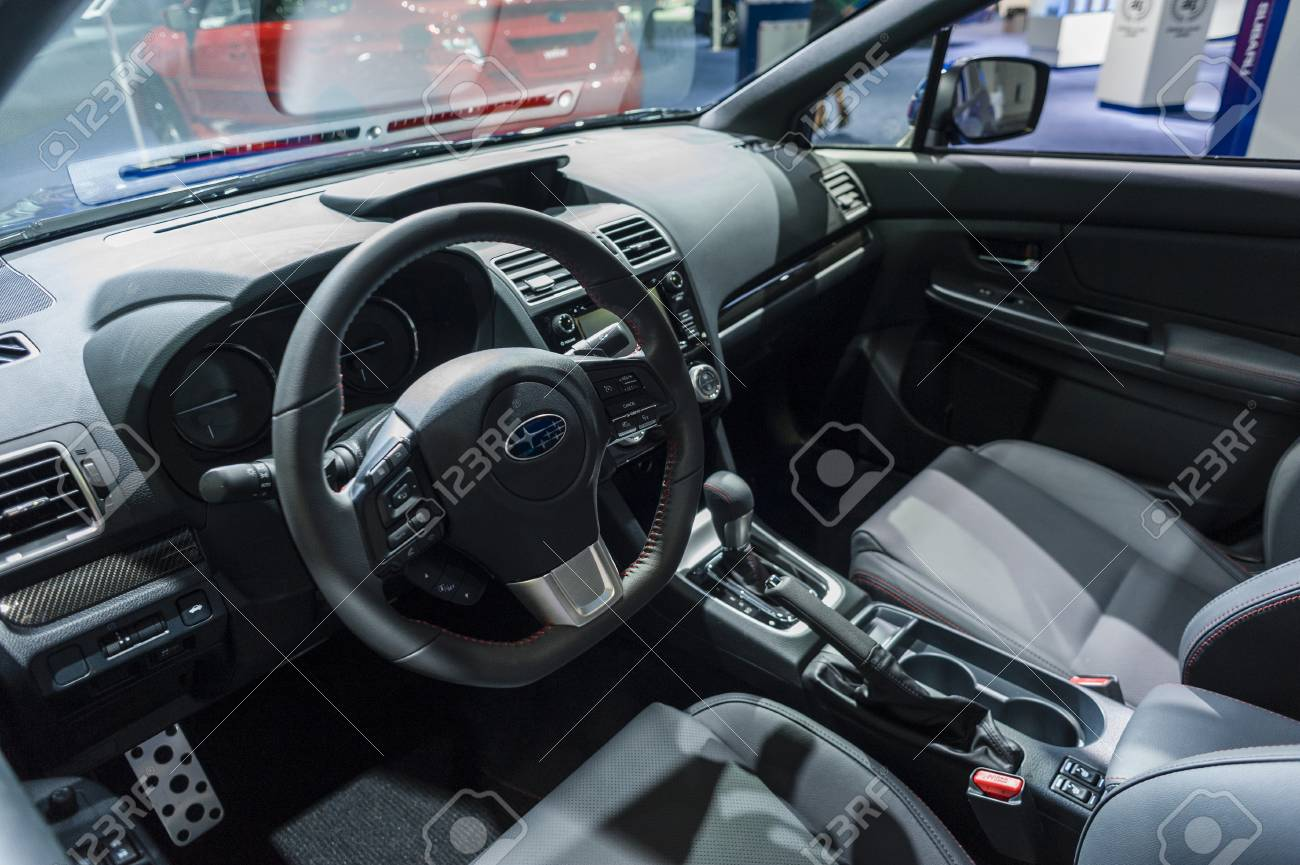 New York, USA   March 24, 2016: Subaru WRX Interior On Display During