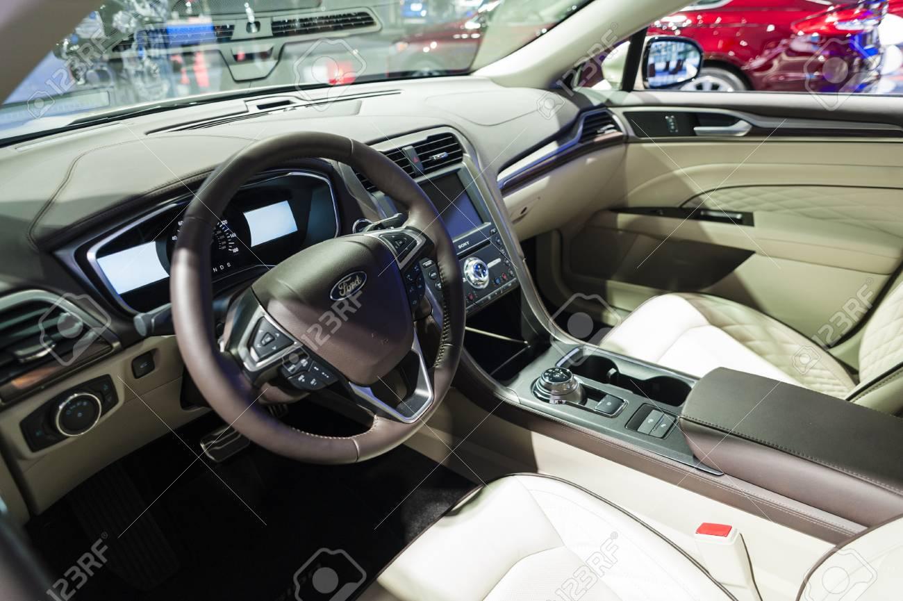 Ford Fusion Platinum >> New York Usa March 23 2016 Ford Fusion Platinum Interior
