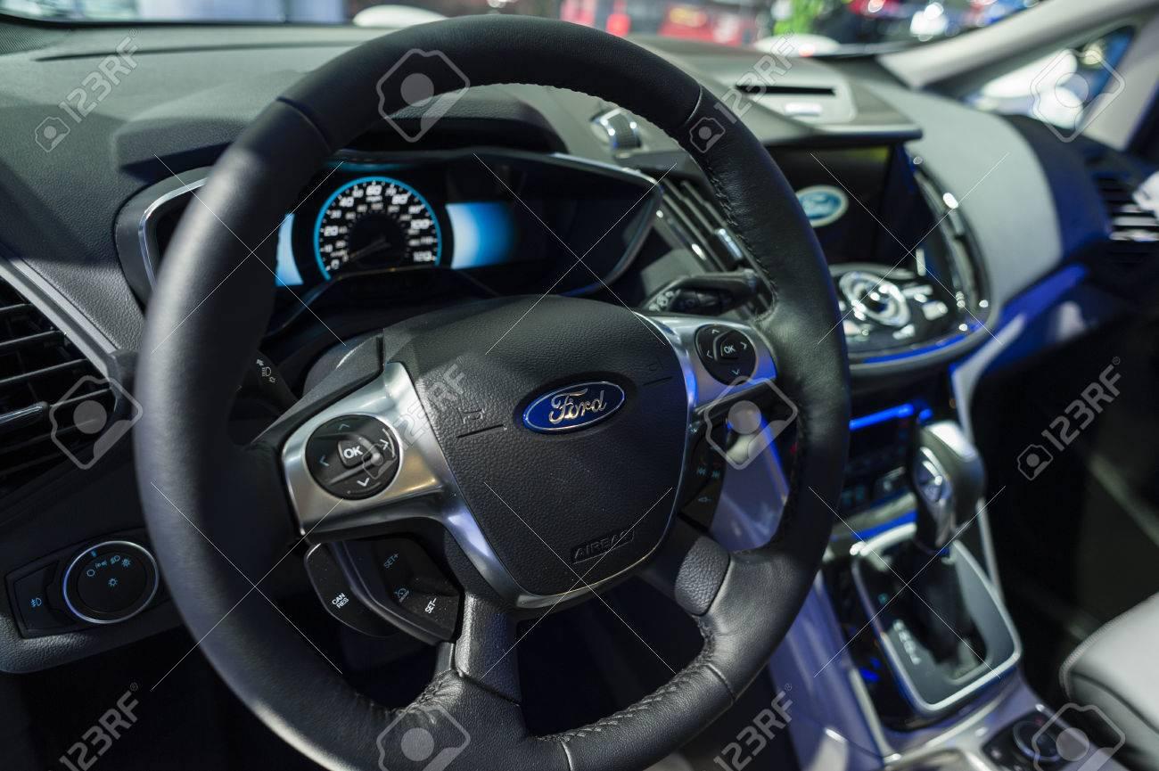New York Usa 23 März 2016 Innenraum Ford C Max Energi Auf