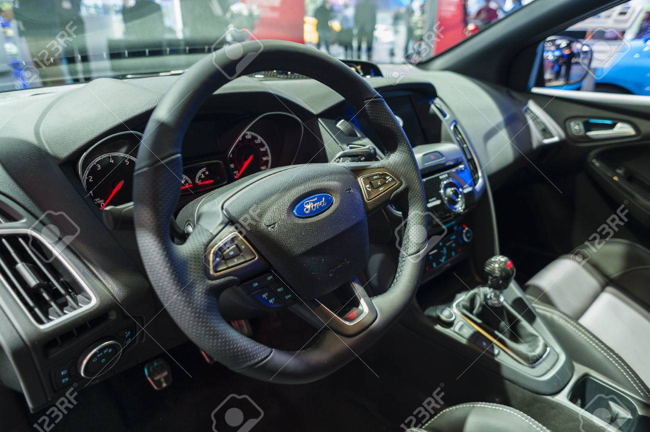 New York Usa March 23 2016 Ford Focus St Interior On Display