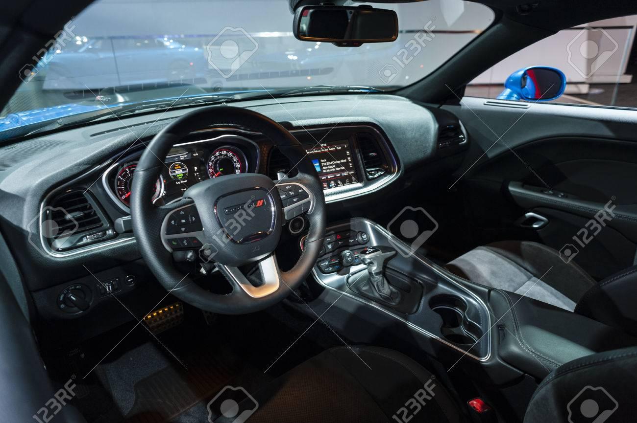 Dodge Challenger Interior >> New York Usa March 23 2016 Dodge Challenger Interior On