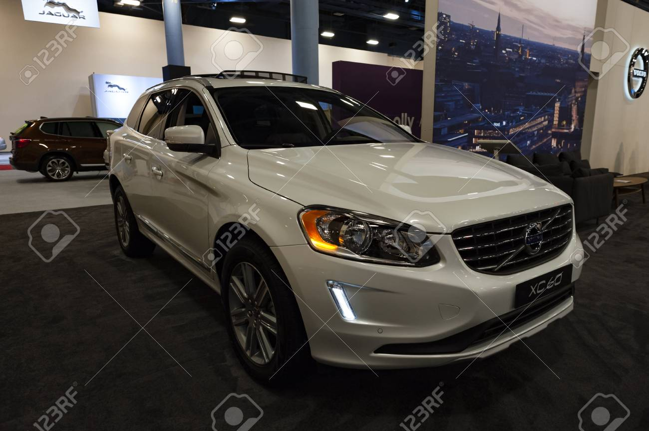 Miami, USA - September 10, 2016: Volvo XC60 T5 FWD SUV on display