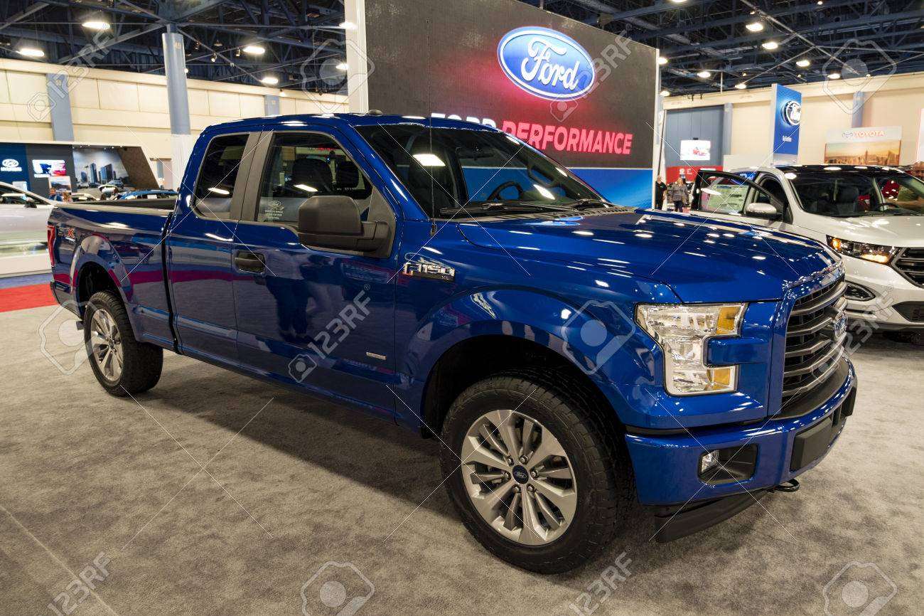 Miami Usa September 10 2016 Ford F150 Pickup Truck On Display