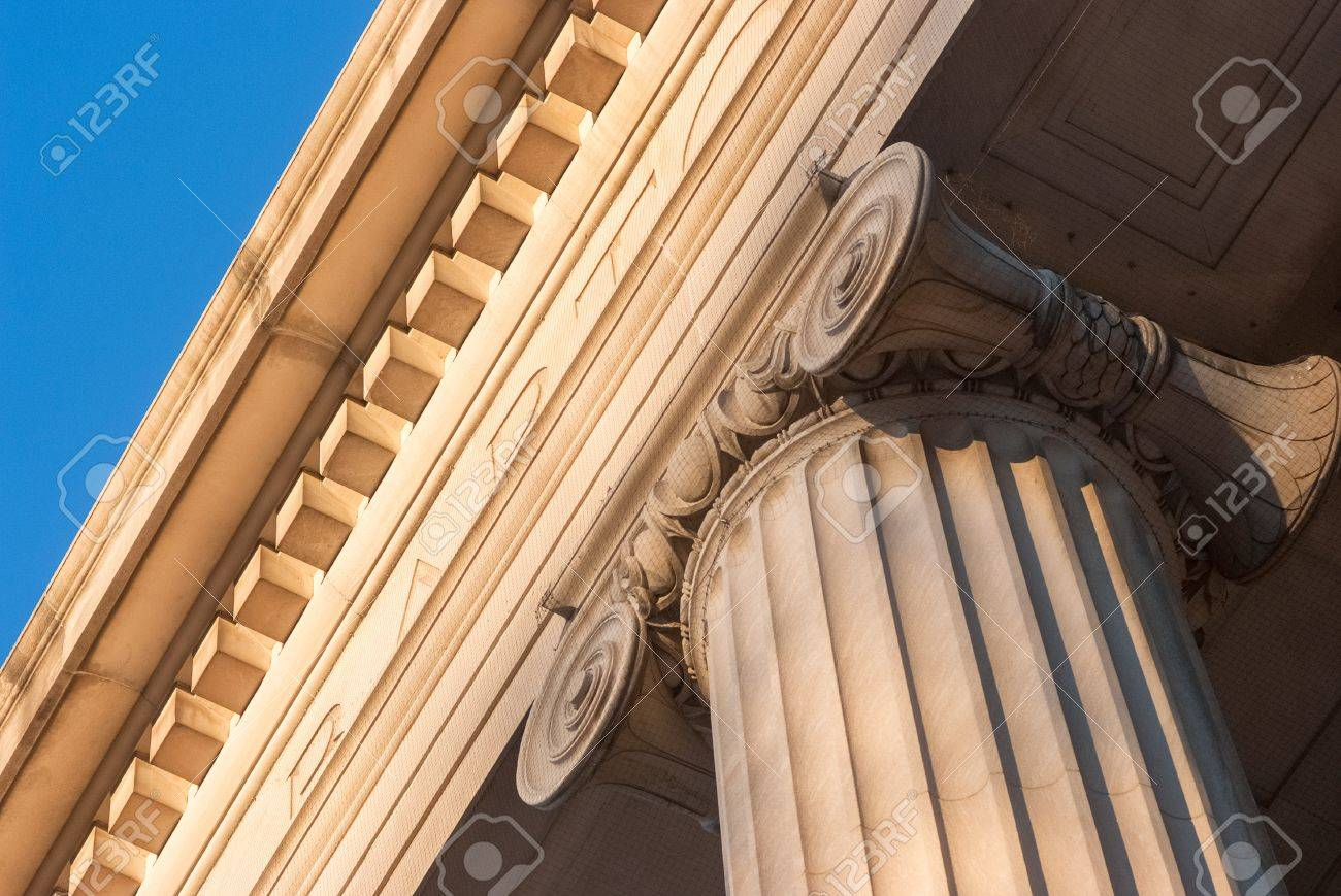 Detailed view of Greek style architectural column Stock Photo - 17159137