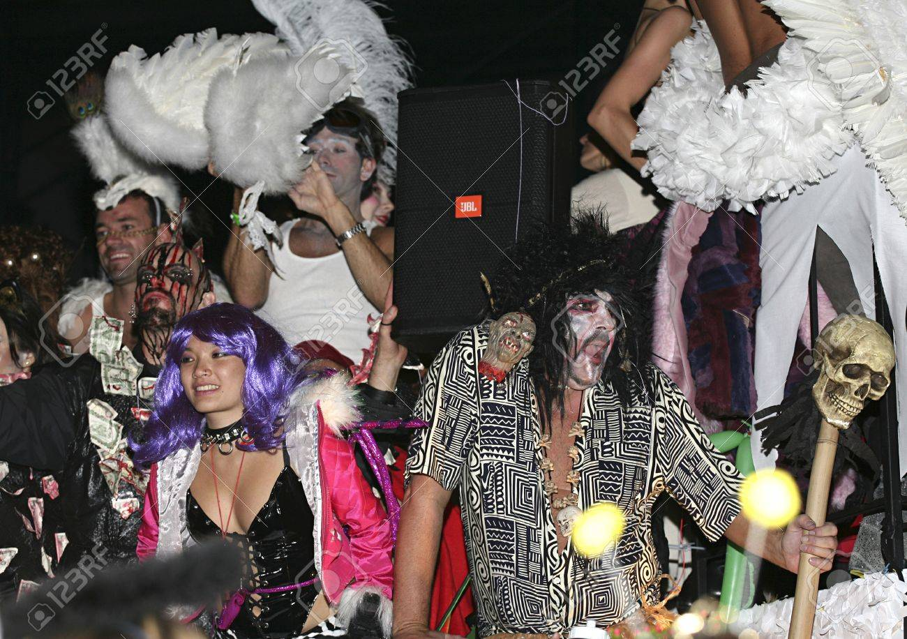 Gay Pride Halloween Costume.Annual Halloween Parade In Greenwich Village New York Many Attend
