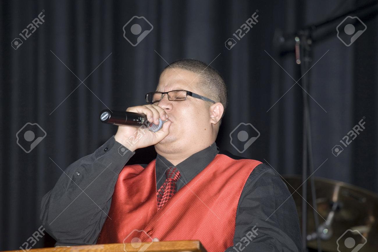 Bronx, NY - April 9: Pentecostal Christian singer Hector Delgado