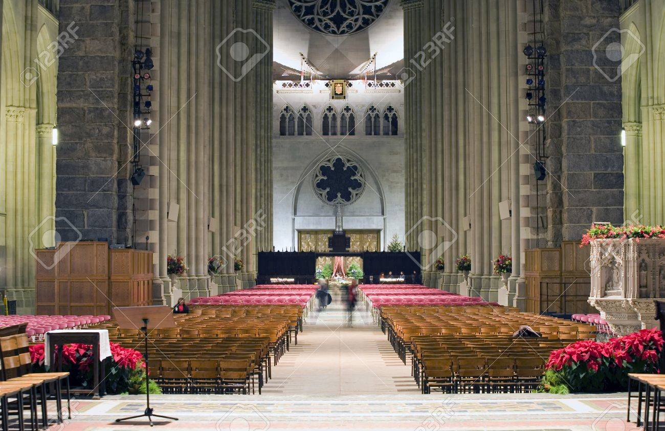 The Cathedral of St. John the Divine.  Amsterdam Avenue New York, NY  (between West 110th Street and 113 Street).    Stock Photo - 10321430