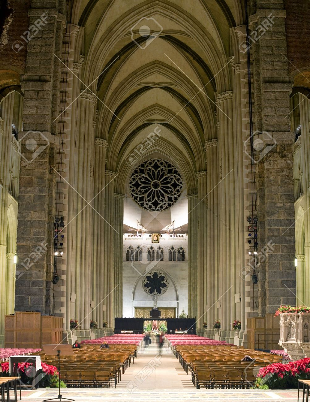 The Cathedral of St. John the Divine.  Amsterdam Avenue New York, NY  (between West 110th Street and 113 Street).    Stock Photo - 10321433