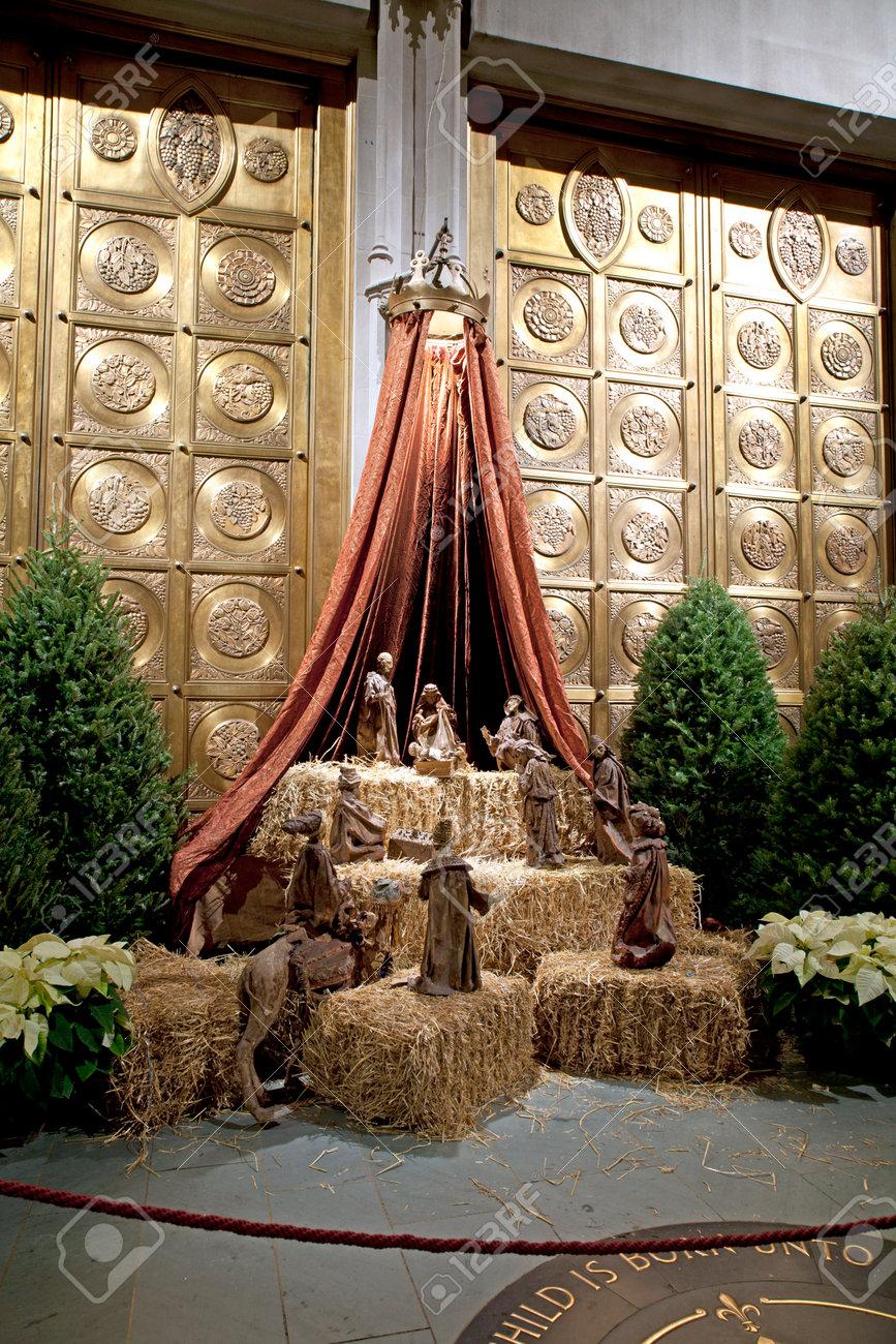 NEW YORK, NEW YORK, USA   22 DÉCEMBRE: Crèche De Noël à L