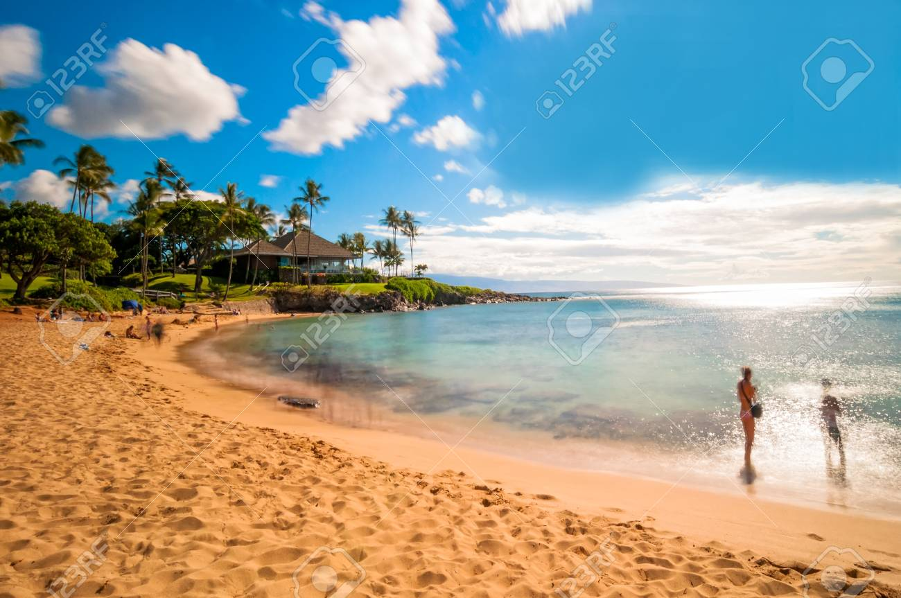 Kaanapali Beach Famous Tourist Destination In Maui Hawaii