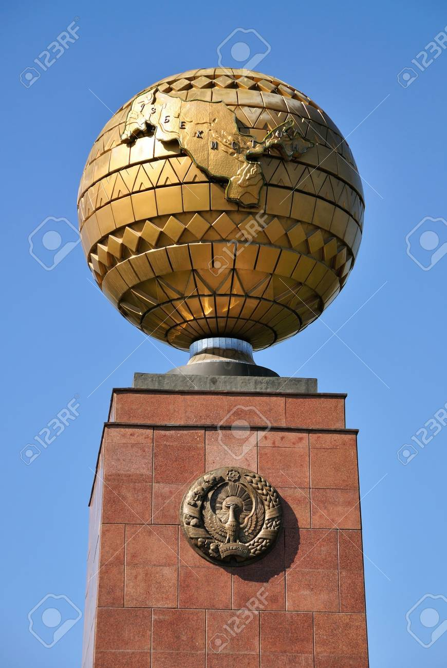Monument of Independence in the Mustakillik Square in the city of Tashkent, the capital of Uzbekistan Stock Photo - 15767908