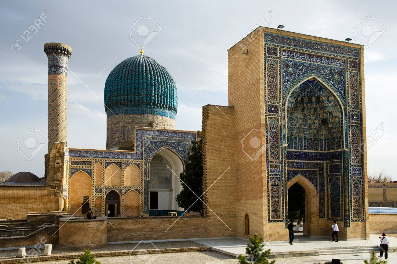 Gur-e Amir Mausoleum in Samarqang, the Place where Conqueror Tamerlang was buried Stock Photo - 16376994