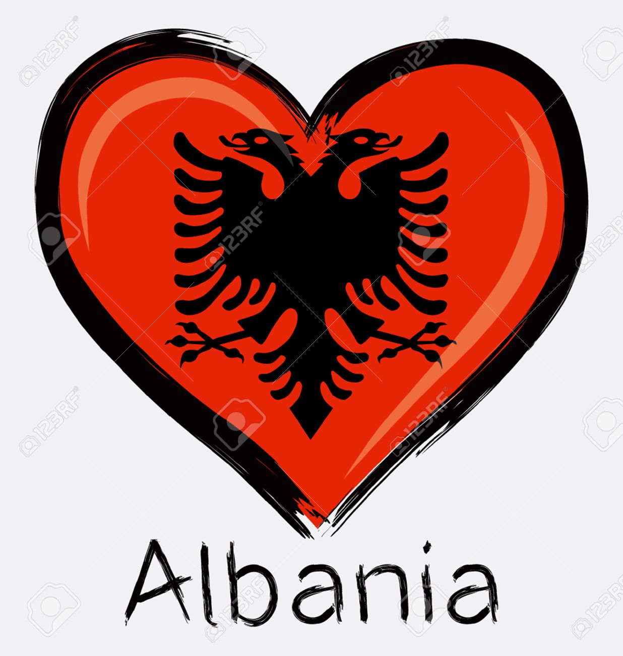Love Albania Flag Royalty Free Cliparts Vectors And Stock - Albania flag