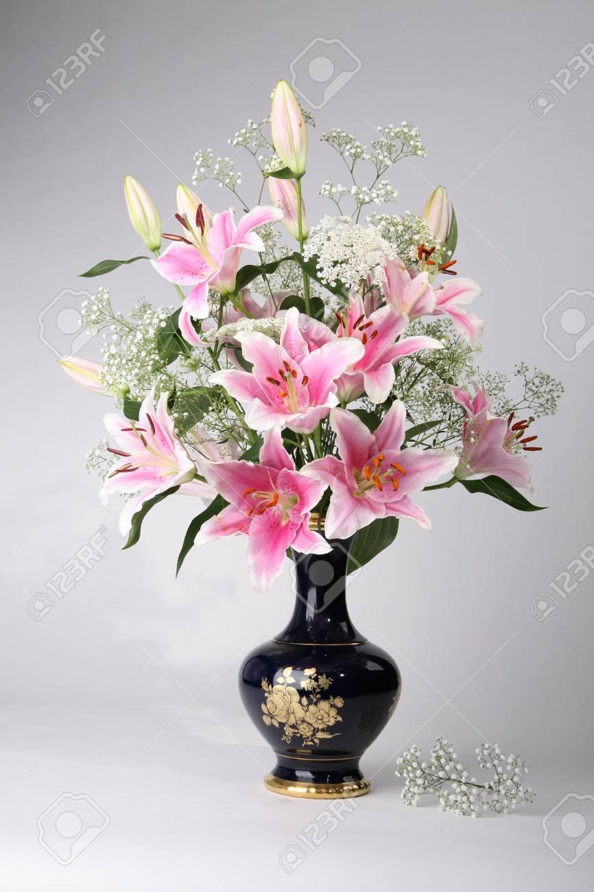 Vase Blumen Blumenstrauß Blumen Frische Schöne Natur Lizenzfreie