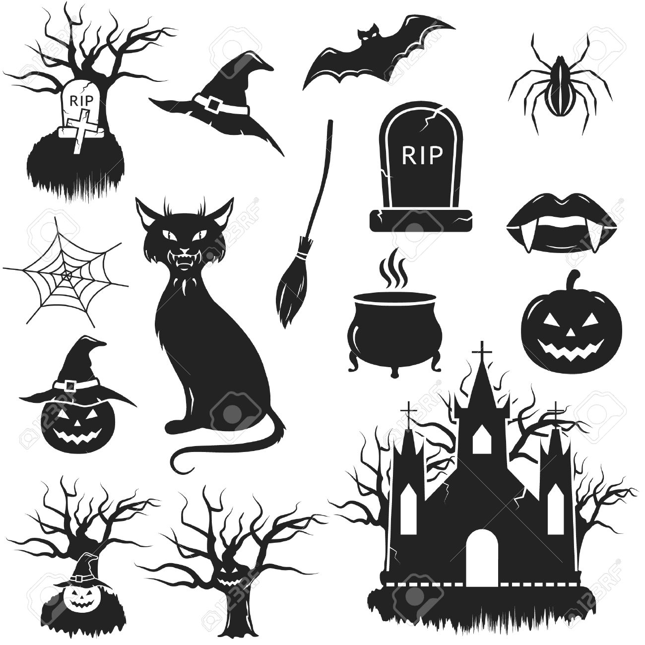 13786 tombstone stock vector illustration and royalty free halloween black and white icons set vector illustration voltagebd Choice Image