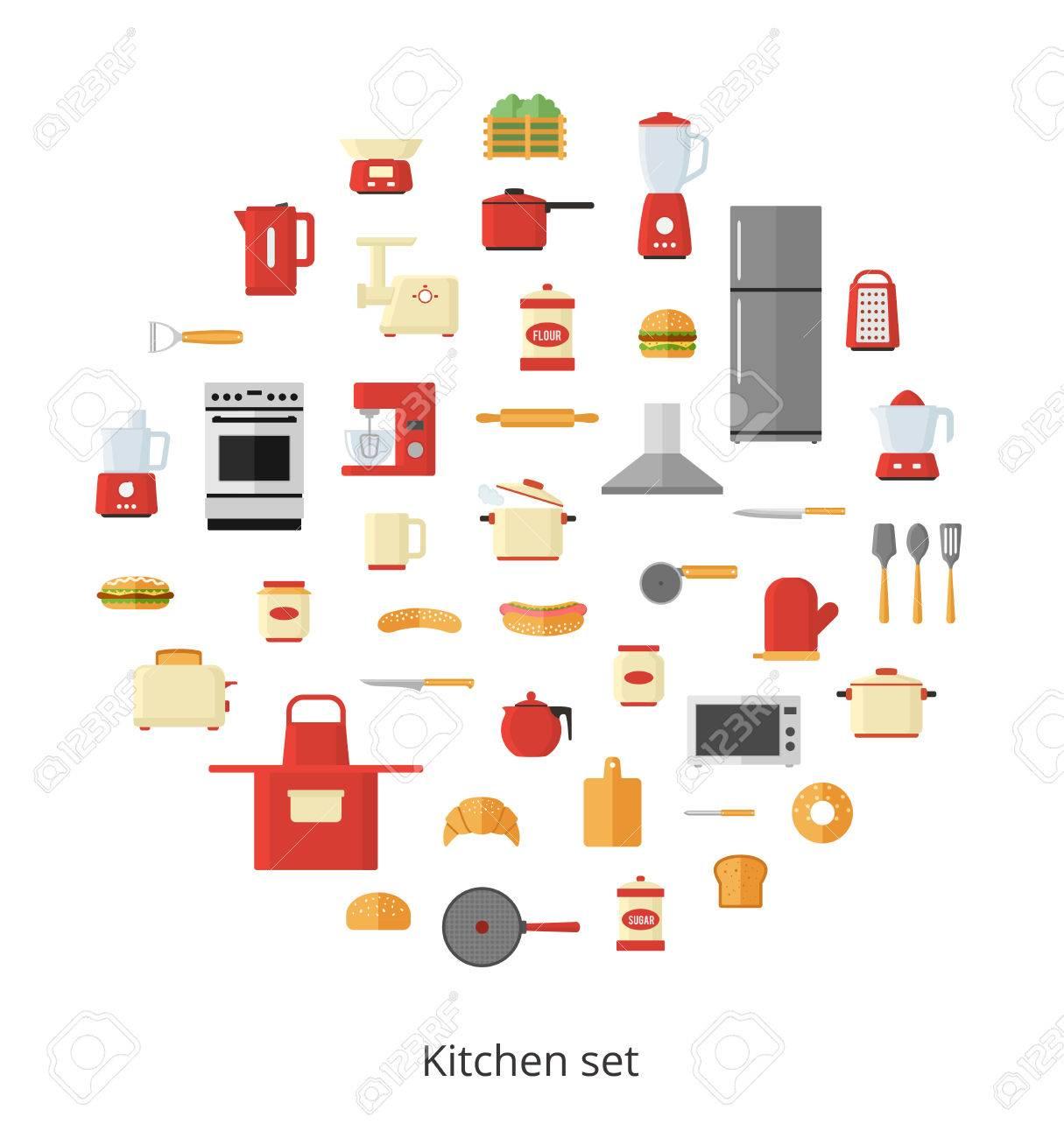 Küchengeräte Und Geschirr, Elektrische Geräte Und Werkzeuge In ...