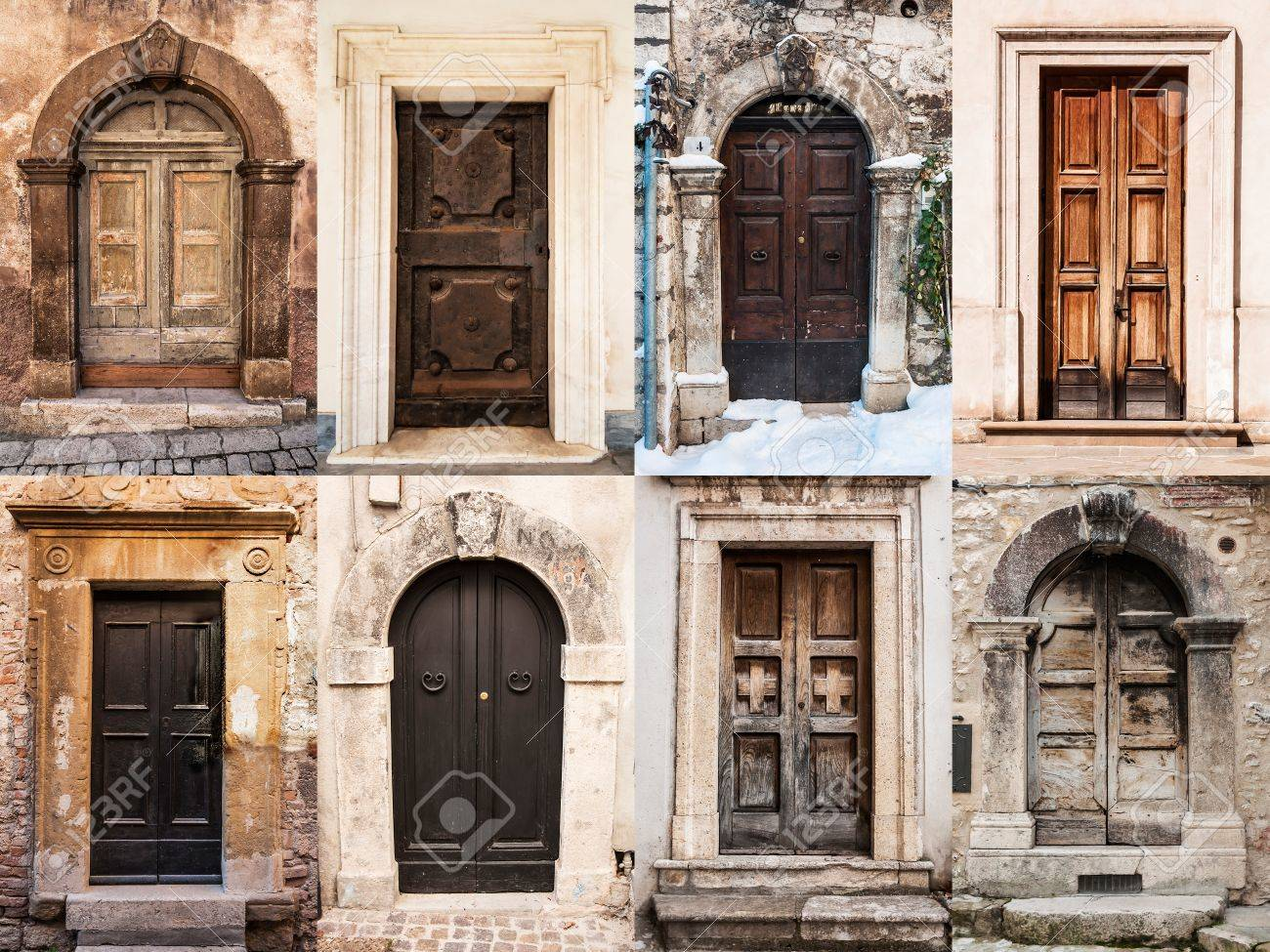 group of italian old doors Stock Photo - 17665027 : old doors - pezcame.com