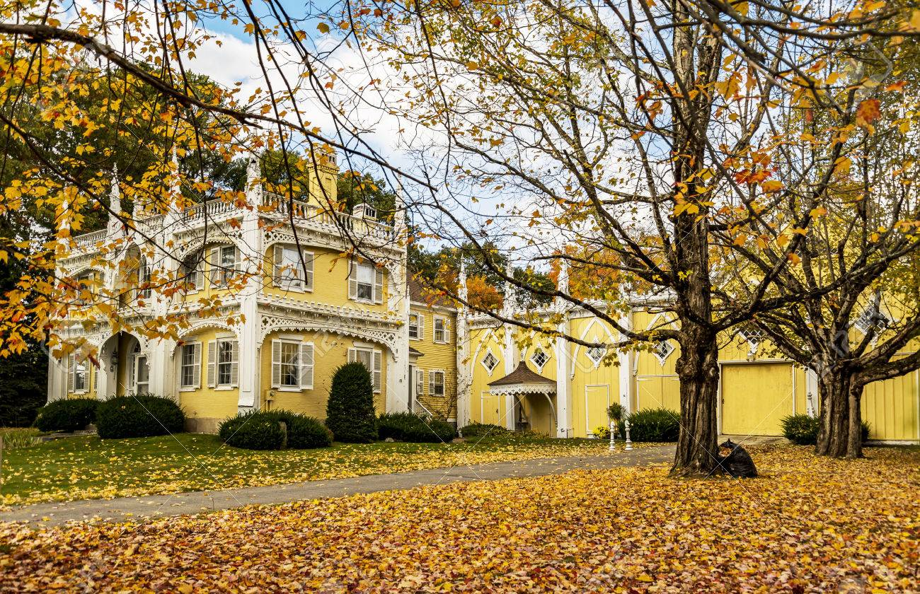 Wedding Cake House In Kennebunk Maine Usa Stock Photo Picture And