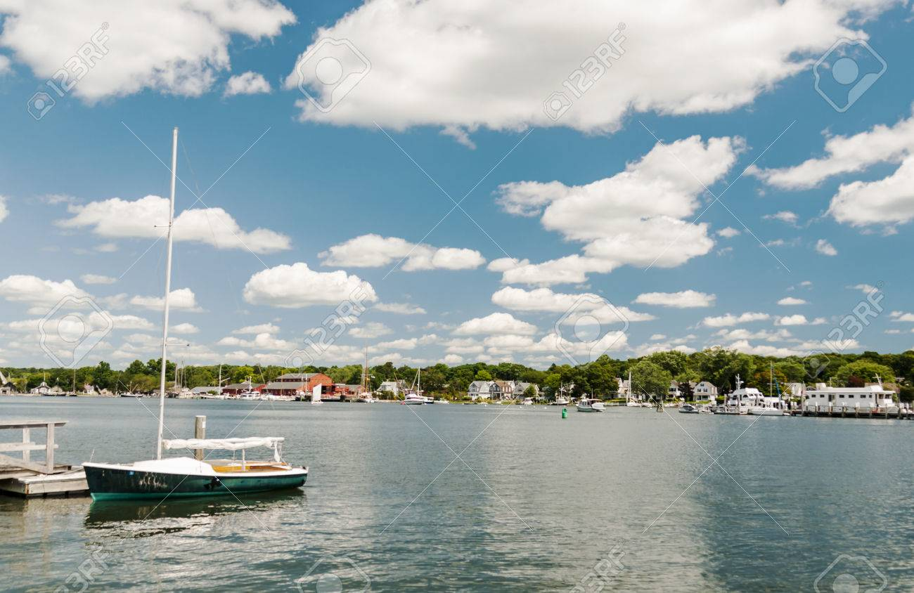 Mystic Seaport, Is An Outdoor Recreated 19th Century Village And  Educational Maritime Museum. Visitors