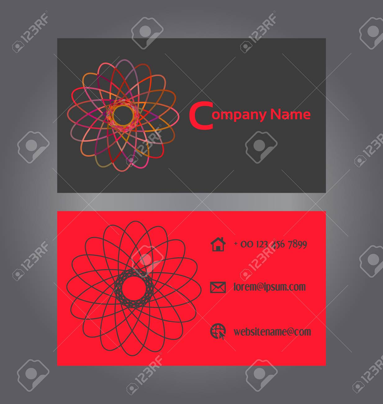 Two-sided Business Card Design Royalty Free Cliparts, Vectors, And ...