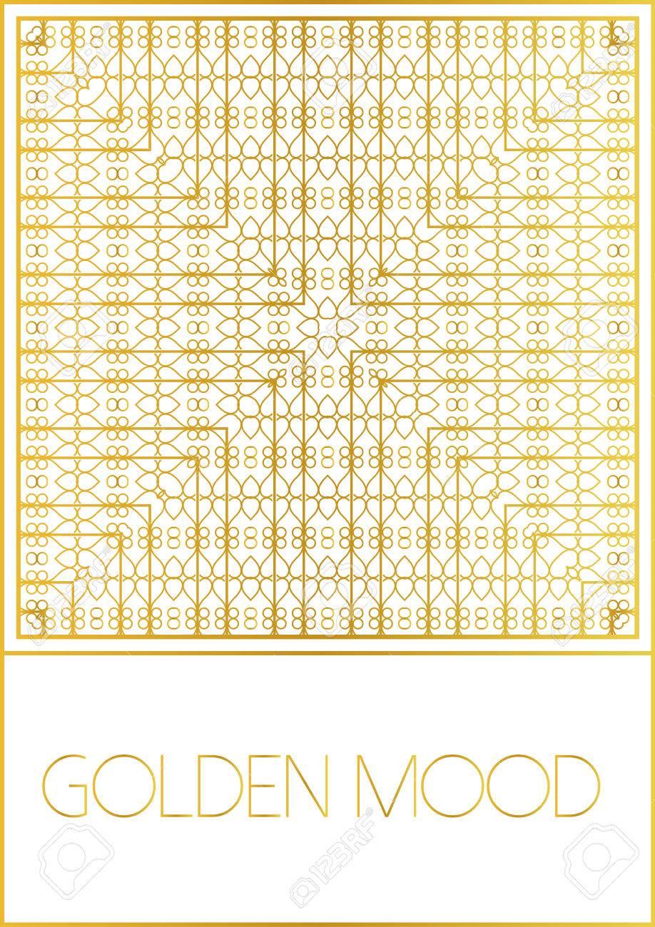 Ornamental Design Golden StyleFor Flyerinvitation Booklet
