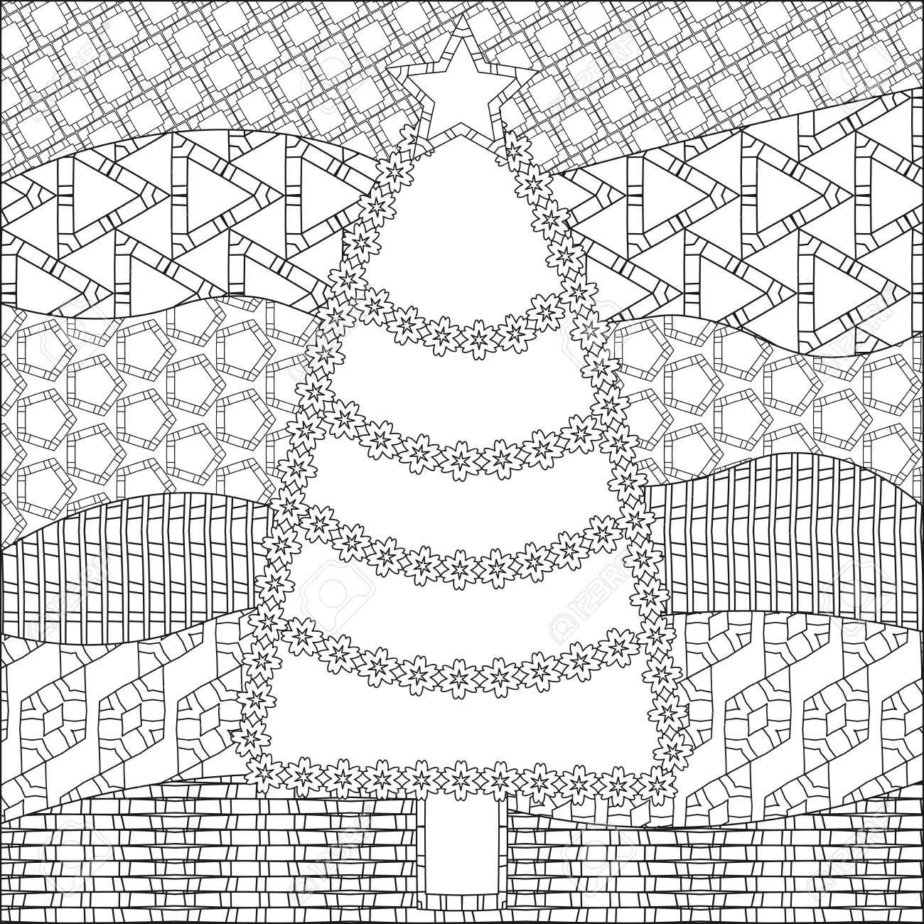 Ornamentales árbol De Navidad Decorativo Con Los Copos De Nieve Y ...