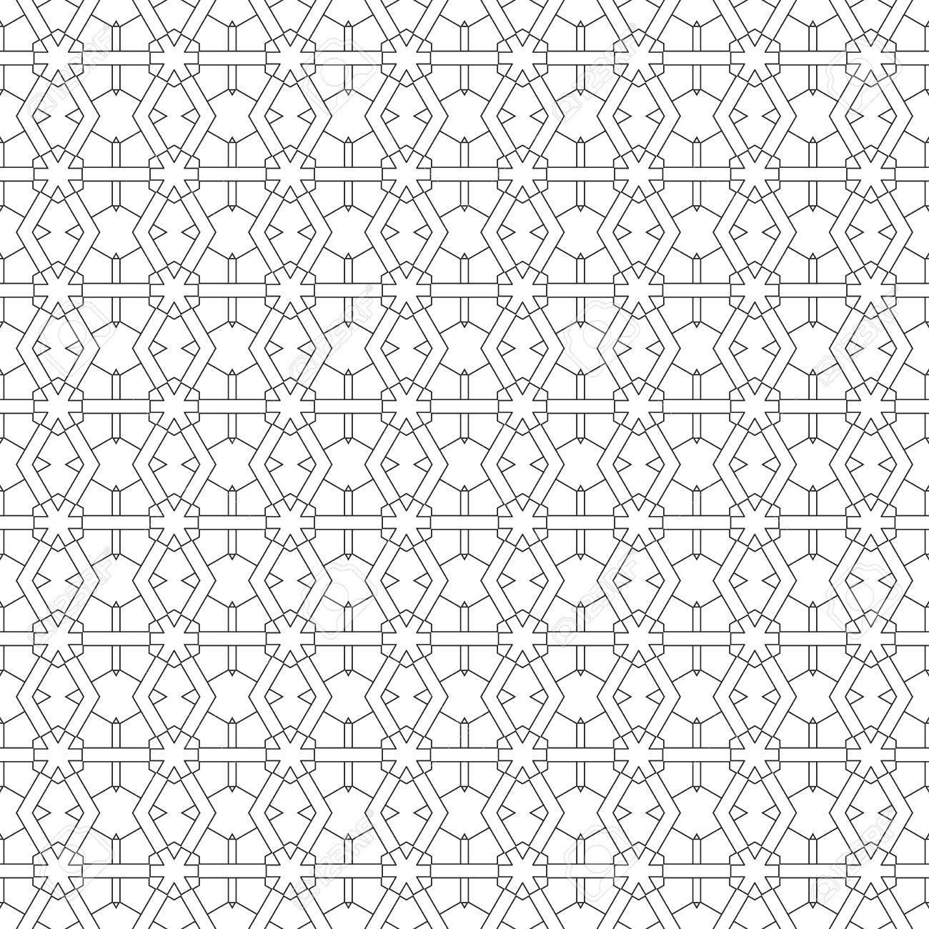 Patrones De Figuras Geometricas Para Colorear. Los Dibujos De ...