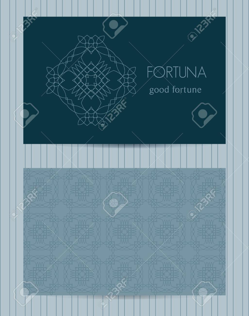 Two sided business card ornamental design template with front two sided business card ornamental design template with front and back side logo and cheaphphosting Images