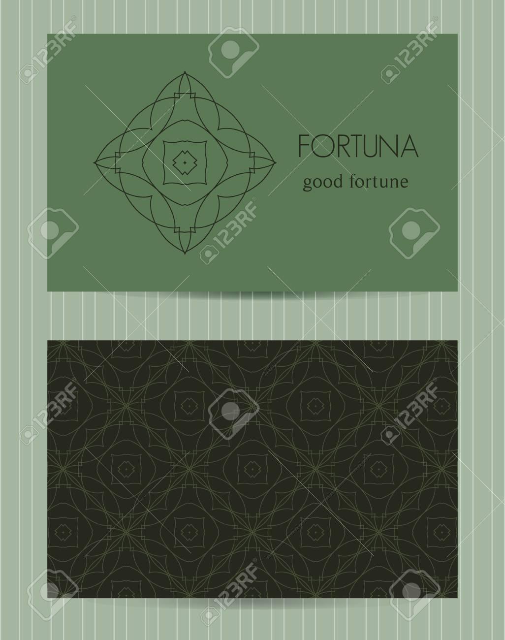 Two sided business card ornamental design template with front two sided business card ornamental design template with front and back side logo and flashek Gallery