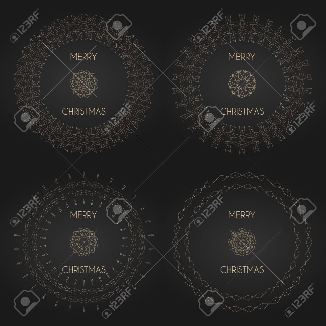 Marcos Decorativos Dorados Con Logotipo. Plantillas De Diseño ...
