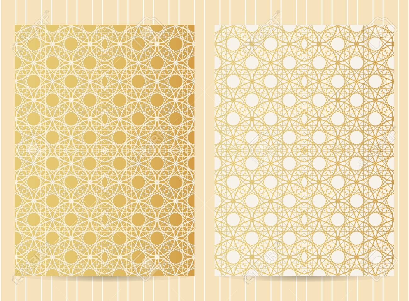 X Inch Size Cards In Golden Color Vector Luxury Templates - 5x7 greeting card template