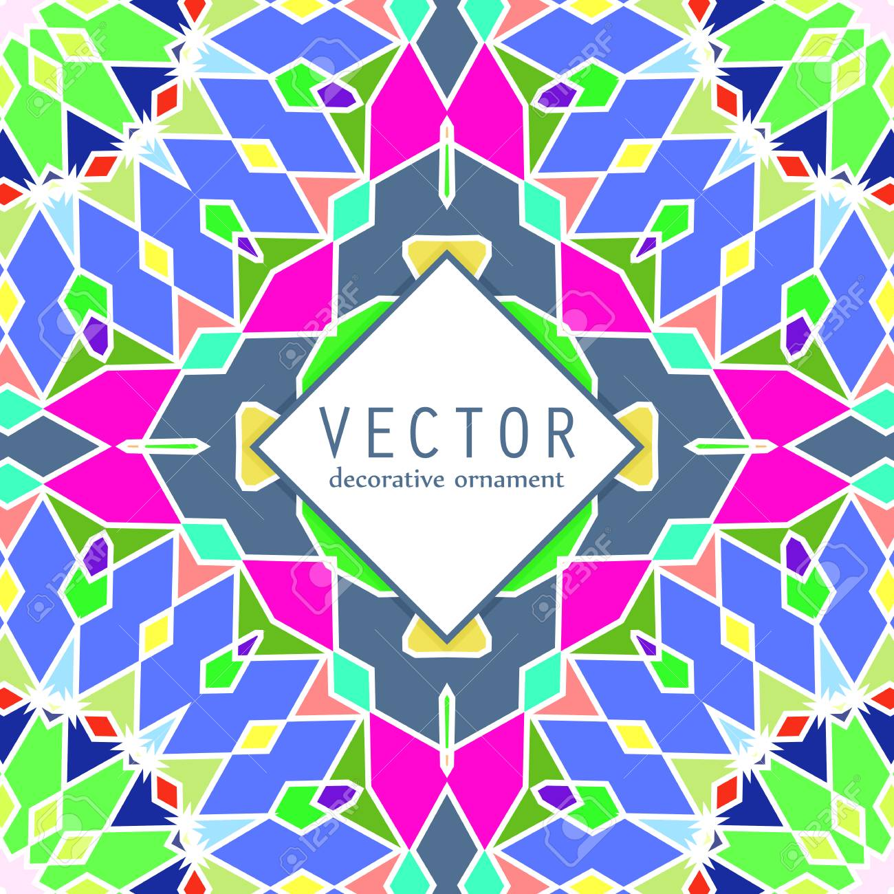 ethnic pattern bright colorful background vector template for