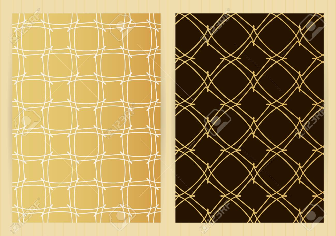 covers with abstract golden pattern vector backgrounds for