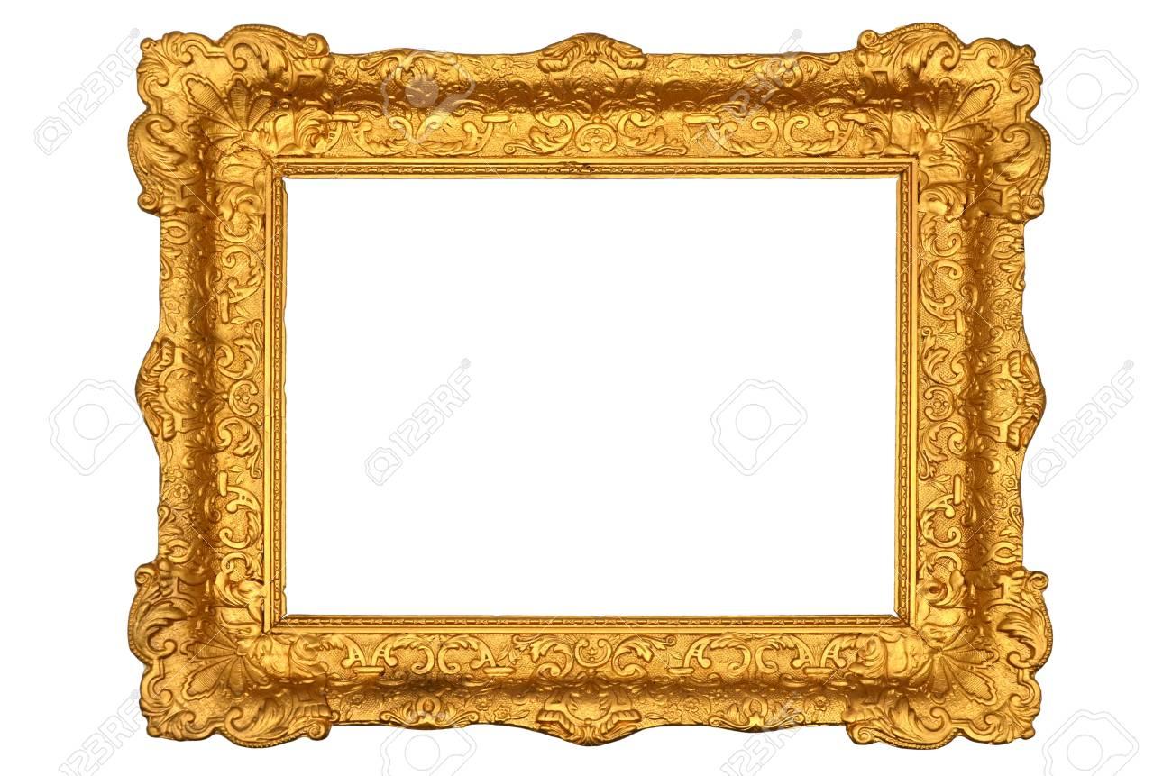 Alter Rahmen Gold Auf Weißem Hintergrund Lizenzfreie Fotos, Bilder ...