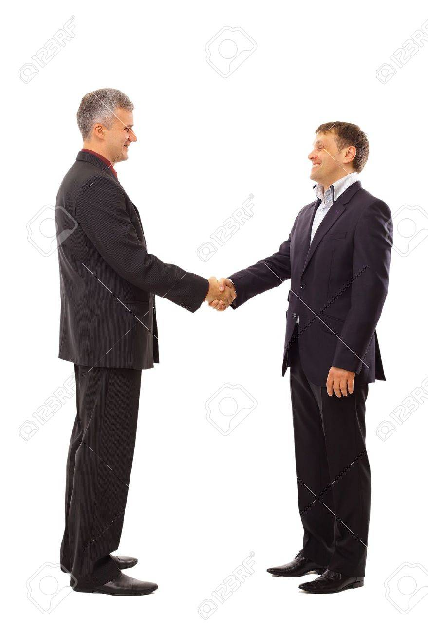 handshake isolated over white background Stock Photo - 11211697