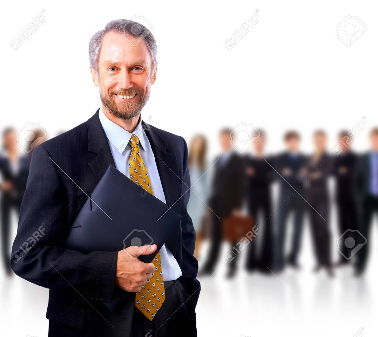 business man and his team isolated over a white background Stock Photo - 11315953