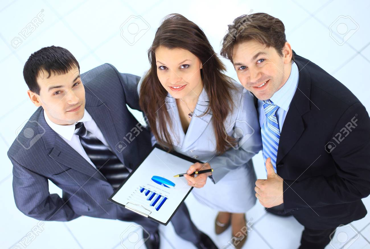 Top view of a group of business people Stock Photo - 11481570