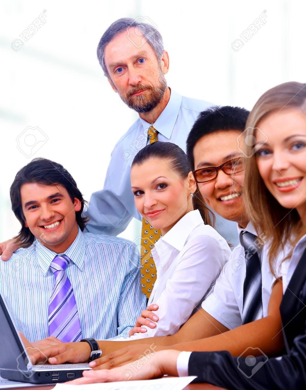 businessteam in offece Stock Photo - 11639588