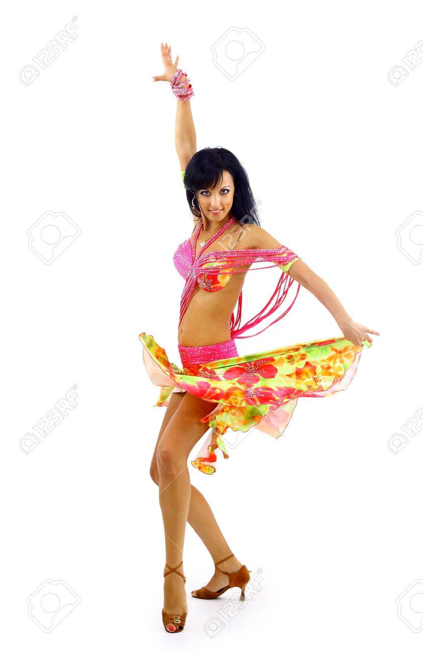 Belly dancer isolated on a white background Stock Photo - 22172296